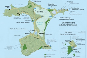 Chatham Islands Map